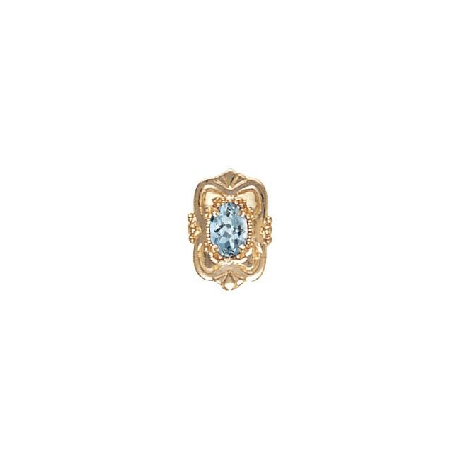 14 Karat Gold Aquamarine Slide