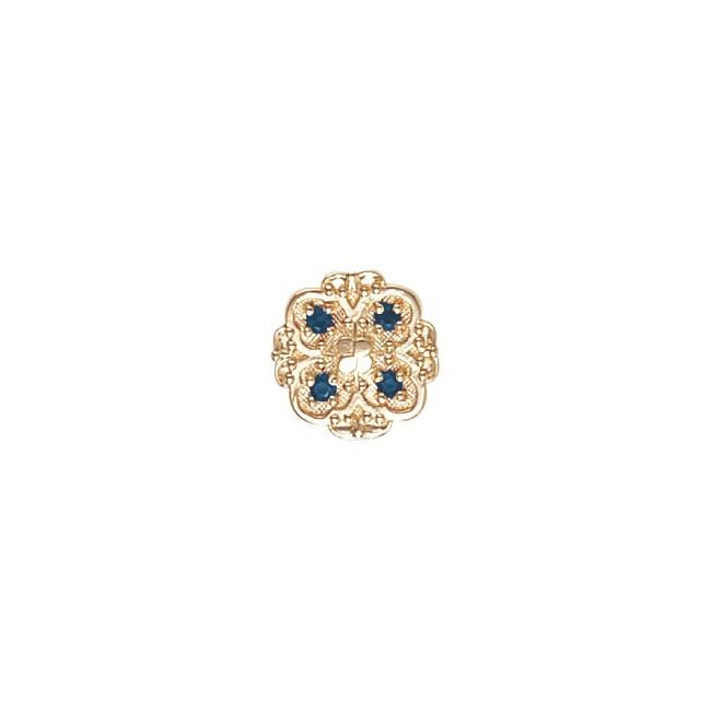 14 Karat Gold Sapphire Slide