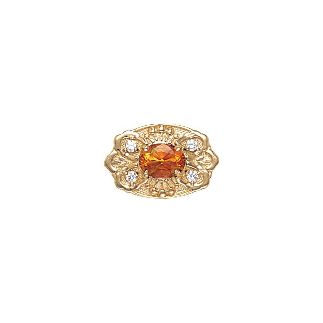 14 Karat Gold Slide with Citrine center and Diamond accents