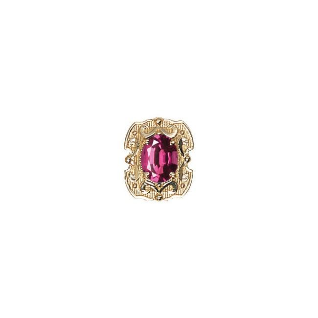 14 Karat Gold Rhodolite Garnet Slide