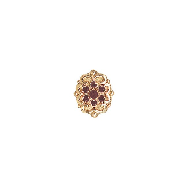 14 Karat Gold Pink Tourmaline Slide