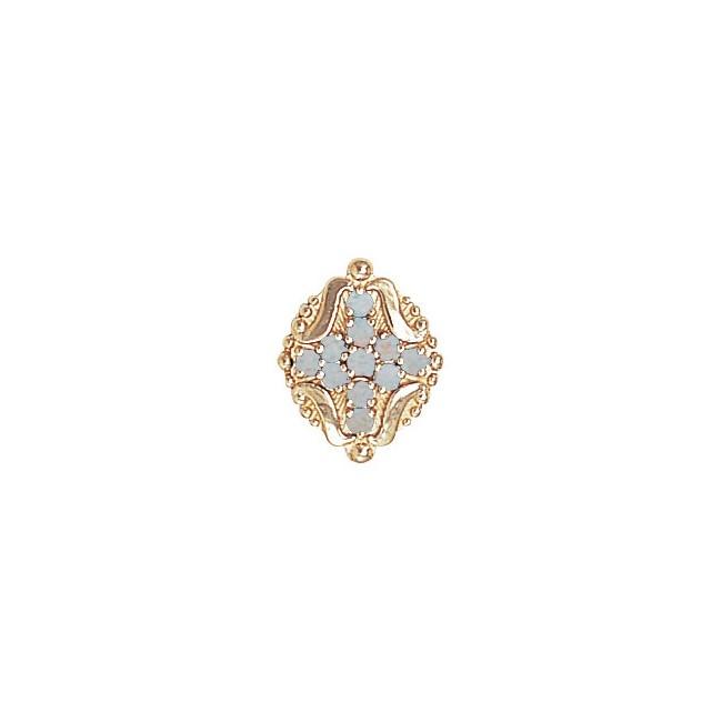 14 Karat Gold Opal Slide
