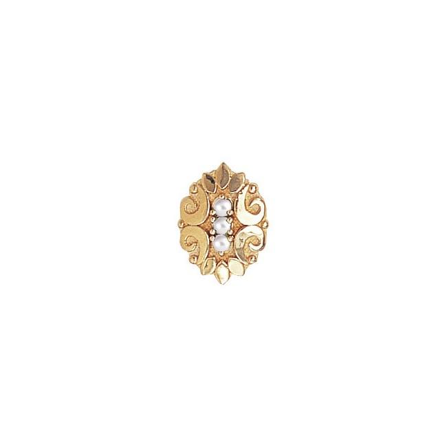 14 Karat Gold Pearl Slide