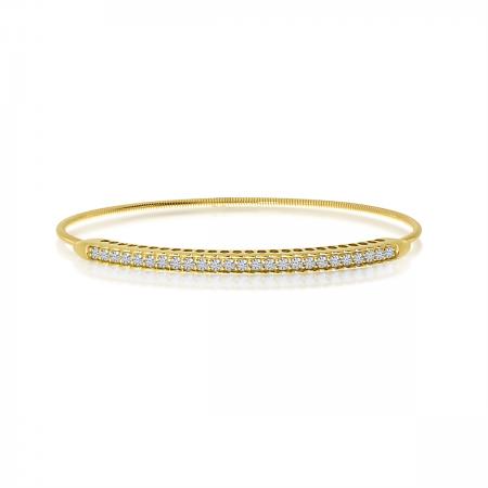 14K Yellow Gold Diamond Expandable Bracelet