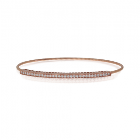 14K Rose Gold Diamond Expandable Bracelet