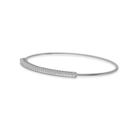 14K White Gold Diamond Expandable Bracelet