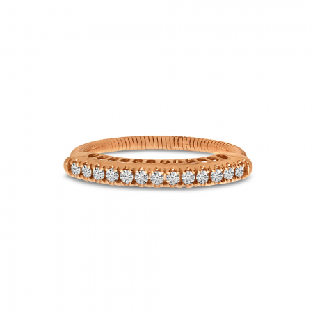 14K Rose Gold Diamond Stretch Ring