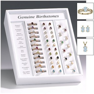 12 Month Ring, Earring and Pendant Birthstone Display