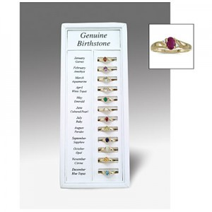 12 Month 10K Yellow Gold Birthstone Ring Display