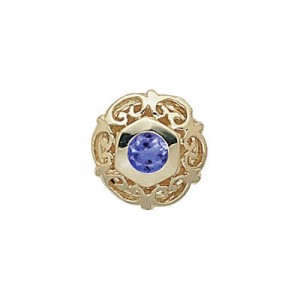 14 Karat Gold Tanzanite Slide