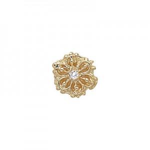 14 Karat Gold Diamond Slide