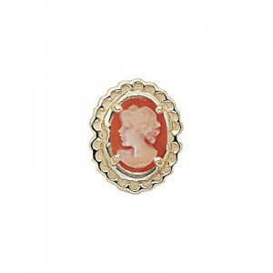 14 Karat Gold Cameo Slide