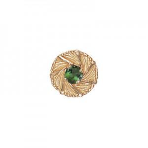 14 Karat Gold Green Tourmaline Slide