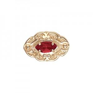 14 Karat Gold Garnet Slide