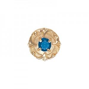 14 Karat Gold Blue Topaz Slide