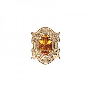 14 Karat Gold Citrine Slide