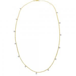 14K Yellow Gold 1.30 Ct Diamond by the Yard Dashing Diamonds Necklace