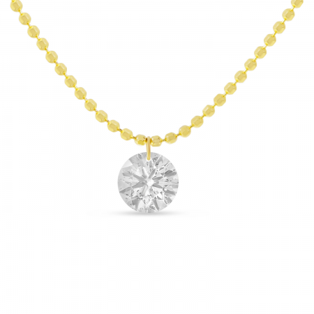 14K Yellow Gold Dashing Diamonds 0.50ct Single Necklace