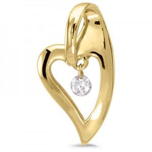 14K Yellow Gold Diamond Dashing Diamonds Pendant