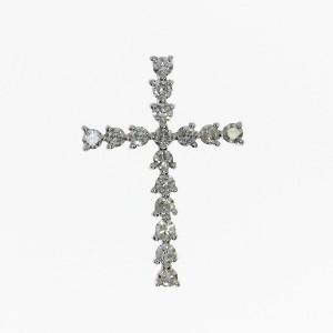14K White Gold .34 Ct Diamond Fashion Pendant