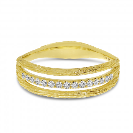 14K Yellow Gold Brushed Band