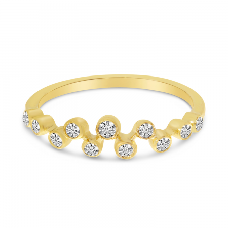 14K Yellow Gold Diamond Bezel Ring