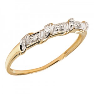 10K Yellow Gold Diamond Band Ring