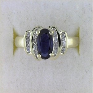 14k Precious and Diamond Ring