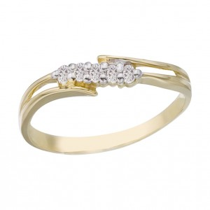 10K Bypass Diamond Promise Ring