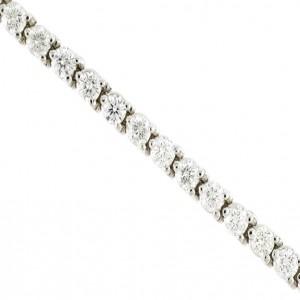 14k White Gold 4 Ct Diamond Three Prong Bracelet