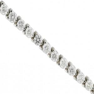 14k White Gold 5 Ct Diamond Three Prong Bracelet