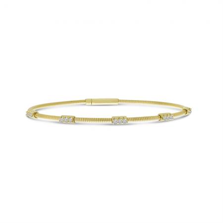 14K Yellow Gold Flexible Diamond Bracelet
